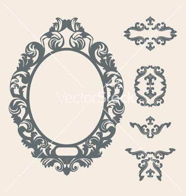 victorian frame vector tattoos pinterest victorian frame rh pinterest com victorian mirror frame vector victorian mirror frame vector