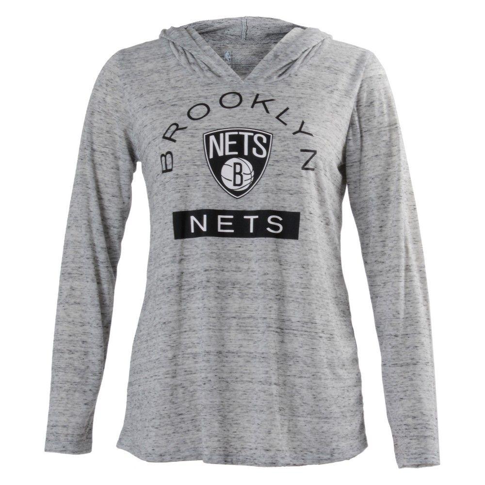 8c3241f678d Brooklyn Nets Women s Tech Arch Gray Lightweight Hoodie Xxl ...