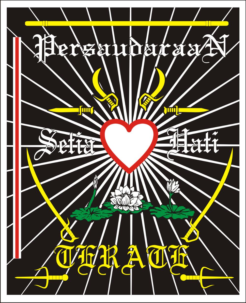 Logo Persaudaraan Setia Hati Terate Psht Seni Bela Diri Gambar Ilustrasi Vektor