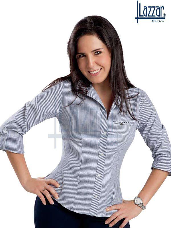 Blusas tela rayas y cuadros de temporada | Uniformes Ejecutivos ...