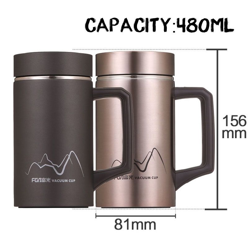 8b2130e2809 Click to Buy << Creatvie Drinkware Vacuum Flask Thermos Mug Stainless Steel Thermal  Insulated Cup with Plastic Handle Filter for tea Water Mug #Affiliate