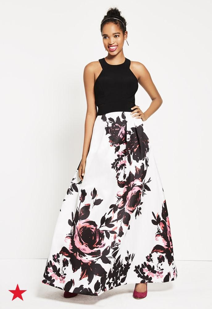 ec8270bd5c We just found the perfect wedding guest dress! This floral ball gown from  XSCAPE is fun, flirty and so pretty! Click to shop at Macy's.