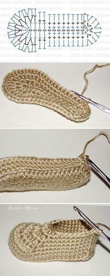 Crochet Zapatos Bebé | bērnu čībiņas | Pinterest | Crochet zapatos ...