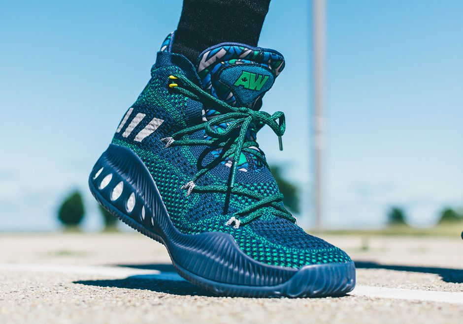 size 40 0f8dc 46975 ADIDAS CRAZY EXPLOSIVE PRIMEKNIT ANDREW WIGGINS BOOST GREEN NAVY B42406