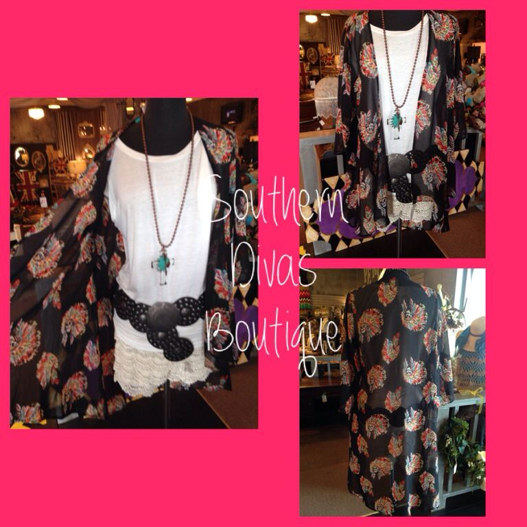 Only a handful of the sheer Indian Skull Cardigans left! Get yours before they are gone again! $42 Southerndivasboutique.com #shopsdb #shopsoutherndivas #southerndivas #southerndivasboutique #indianchief #skull #boho #gypsy #gypsyboho #cardigan #freespirit #froufrou #froufroutomball #tomballtx