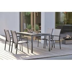 Stern New Levanto Stacking Armchair Aluminum Textil Anthracite