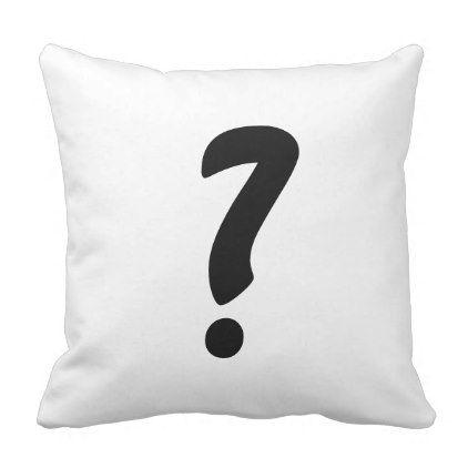 huh question mark pillow throw pillow pinterest question mark