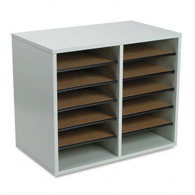 Amazon.com Safco Adjustable Literature Organizer - 12 Compartment Gray $47.16 (19.5 width  sc 1 st  Pinterest & Amazon.com Safco Adjustable Literature Organizer - 12 Compartment ...