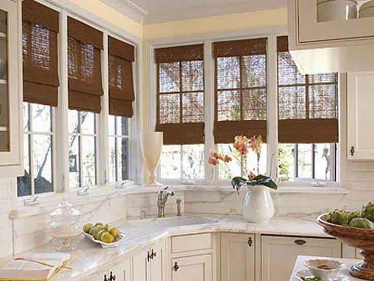 Window Treatment Ideas For Kitchen Bay Window Blind  New Build Delectable Designer Kitchen Curtains Review