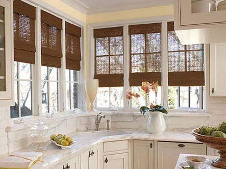 Bay Window Blind Ideas Part - 50: Window Treatment Ideas For Kitchen Bay Window Blind