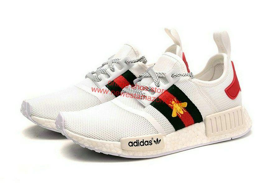 c3756e08cf45a Fashion Adidas NMD R1 Gucci White Shoe