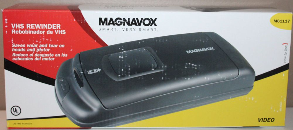 Details about Magnavox M61117 VHS Tape Rewinder New in Box
