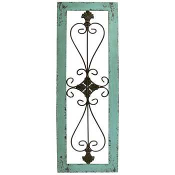 Turquoise Framed Metal Wall Decor Metal Wall Decor Metal Flower