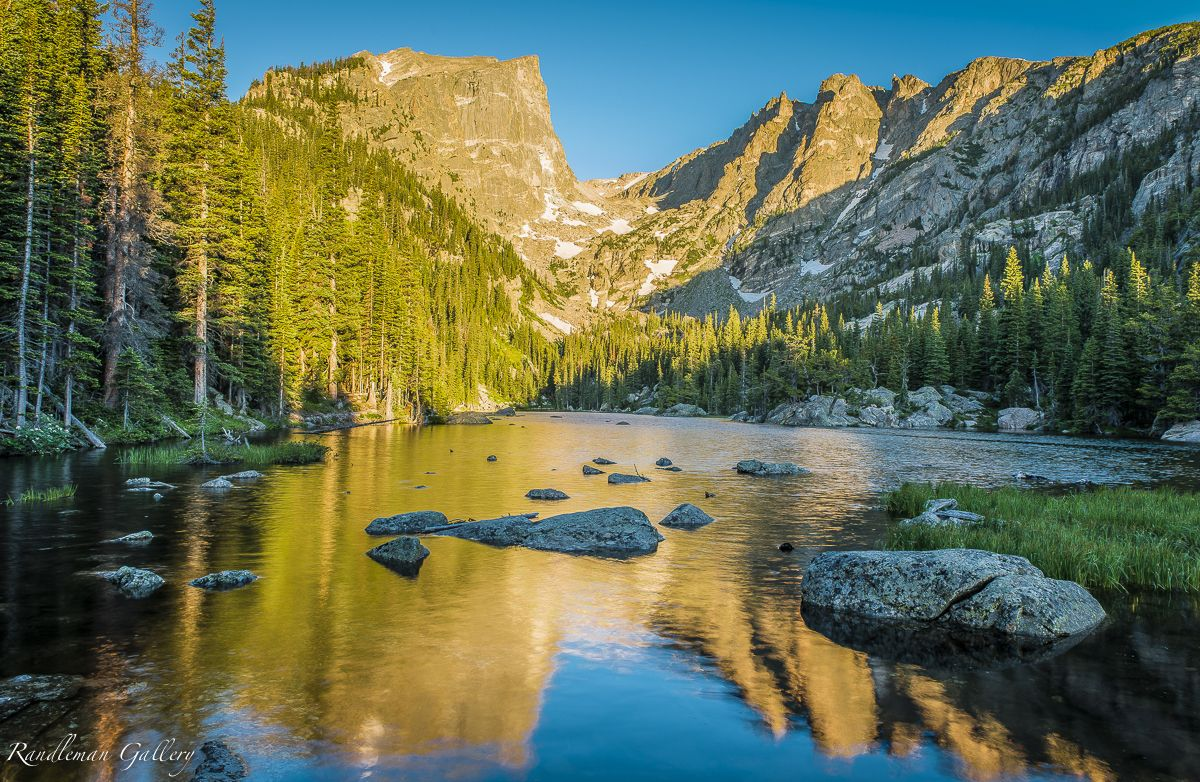 Dream Lake Sunrise Rocky Mountain National Park Colorado