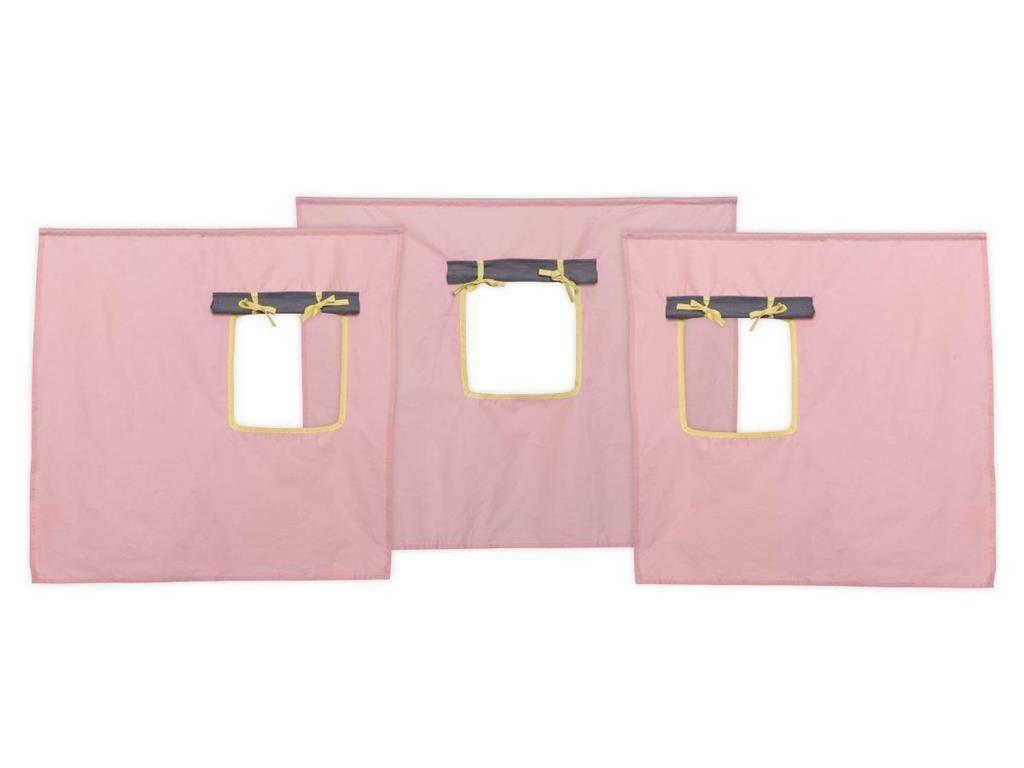 Flexa Basic Vorhang Fur Kinderbett Rosa Grau Hohe 73cm Jetzt