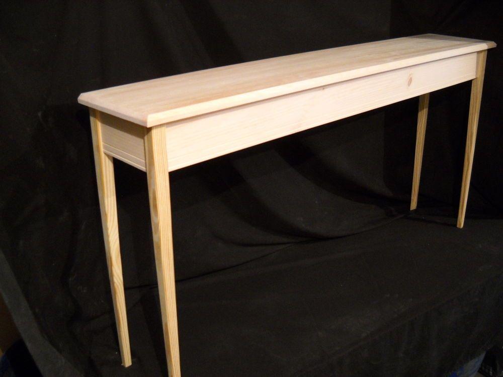Unfinished 60 Console Sofa Foyer Beveled Edge 11 Deep Table W
