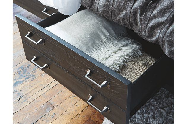 Baylow Queen Panel Bed with 4 Storage Drawers   Queen ...