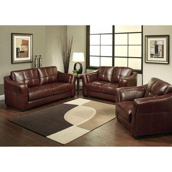 florentine top grain leather living room set burgandytop grain leather sofa loveseat chair by abbyson