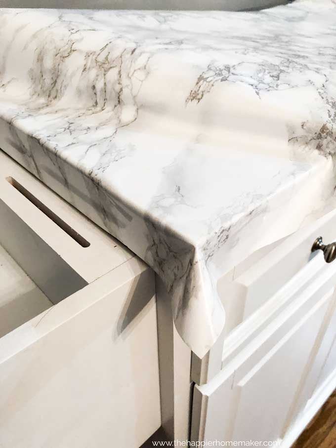 Diy Faux Marble Counter Faux Marble Countertop Painting Kitchen