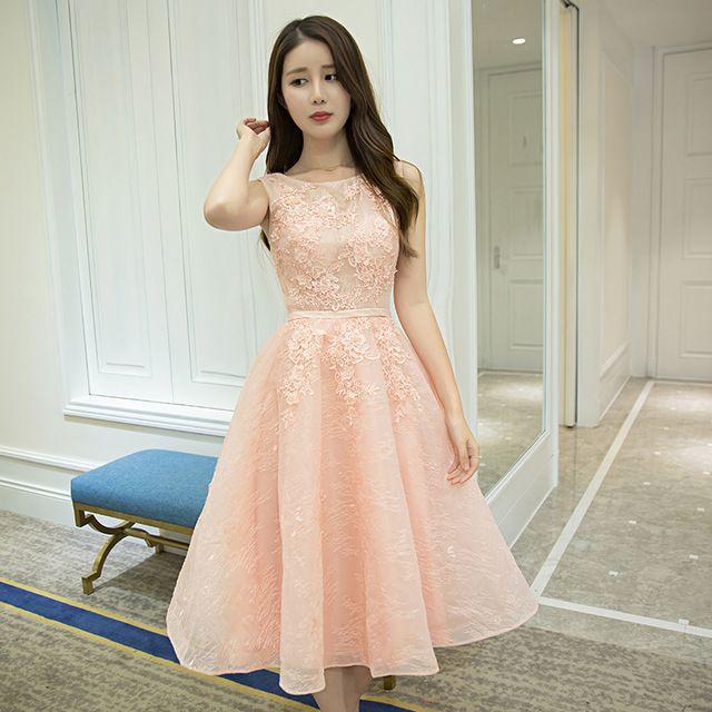 05f7ffe08d3 Халат Де Вечер Новая Мода Короткие Вечерние Платья Невесты Сладкий Розовый…