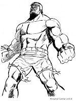Mewarnai Gambar Sketsa Hulk