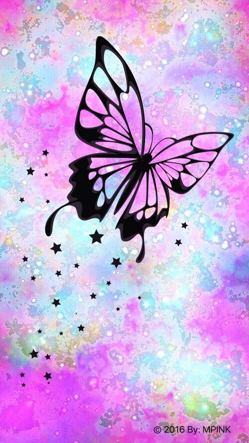 Black And Pink And Purple And Blue Butterfly Butterfly Wallpaper Purple Butterfly Iphone Wallpaper