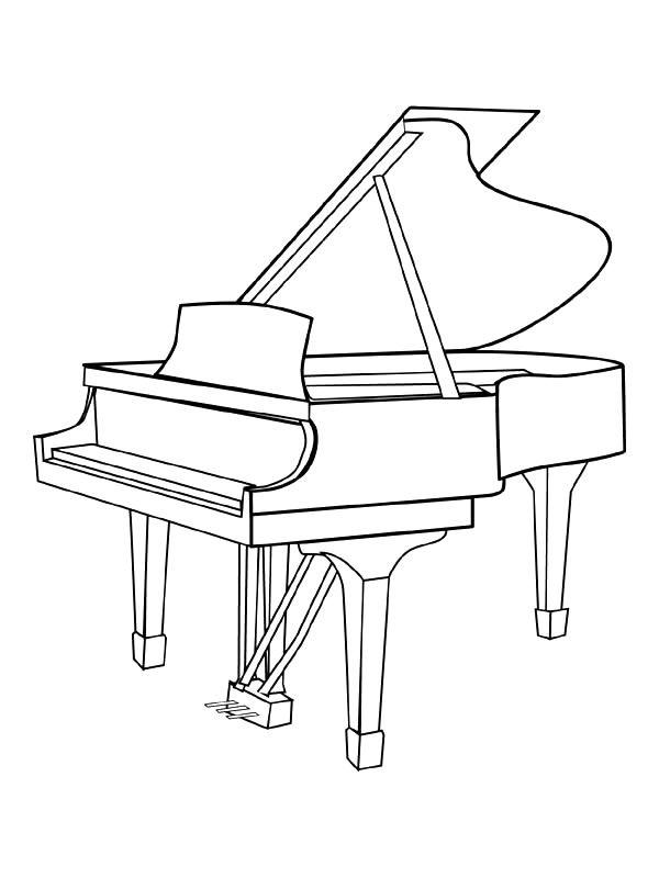 Kids Under 7 Musicalinstruments Coloring Pages  printables