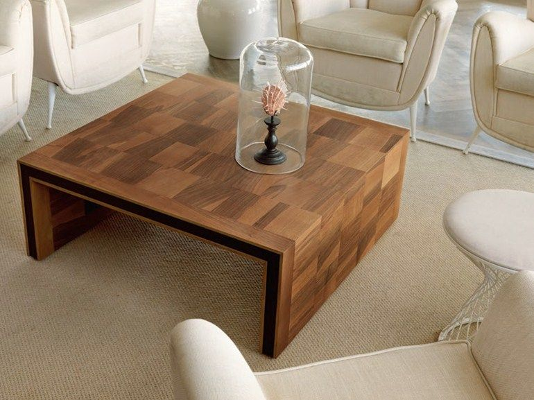 Low square wooden coffee table H-119 by Dale Italia | design Arbet ...