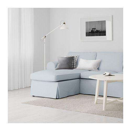 ektorp 2er-sofa und récamiere - nordvalla hellblau - ikea   living ... - Ikea Wohnideen Wohnzimmer Ektorp