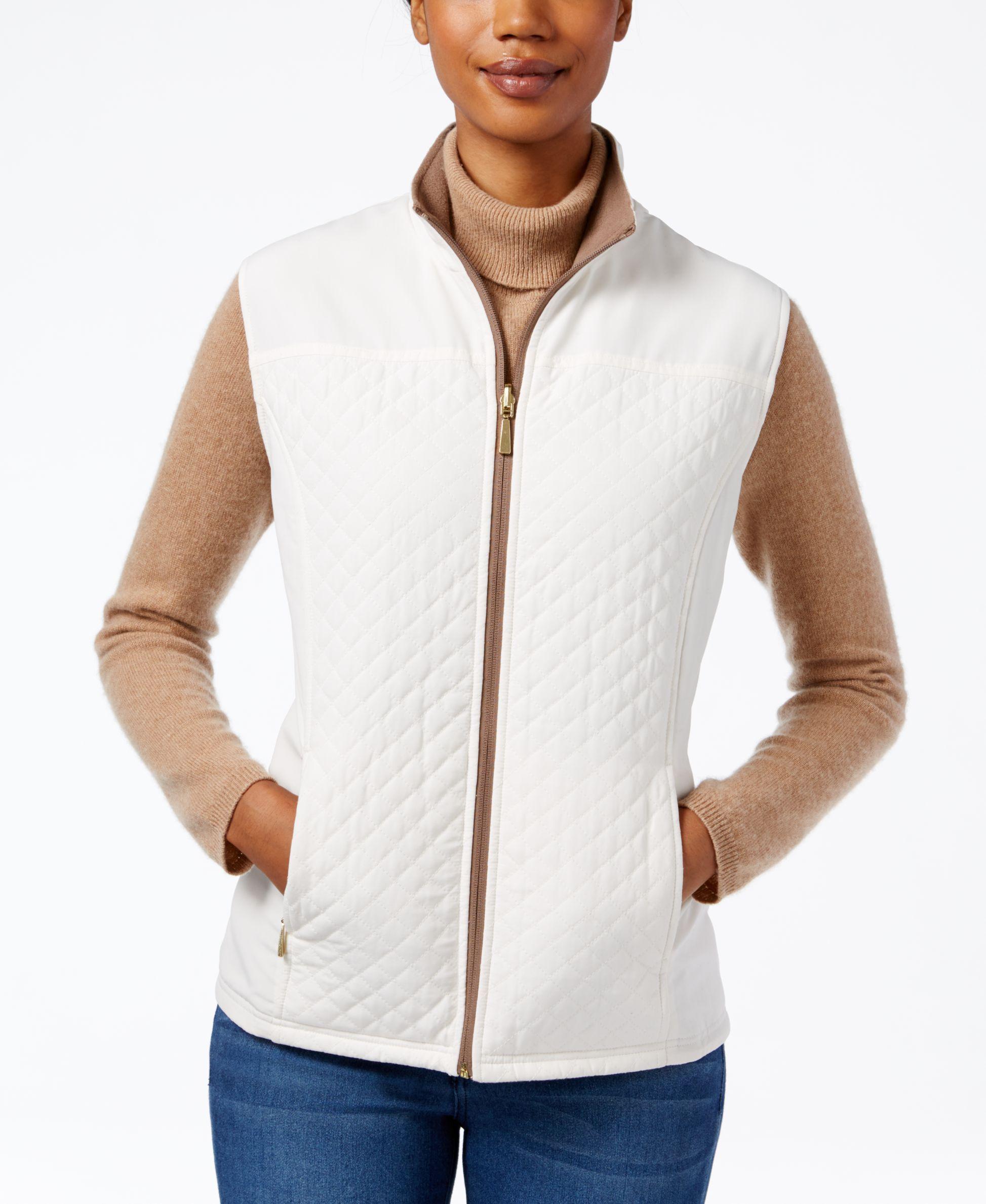 Karen Scott Reversible Fleece Vest Only At Macy S Blazer Jackets For Women Fleece Vest Clothes Design [ 2378 x 1947 Pixel ]