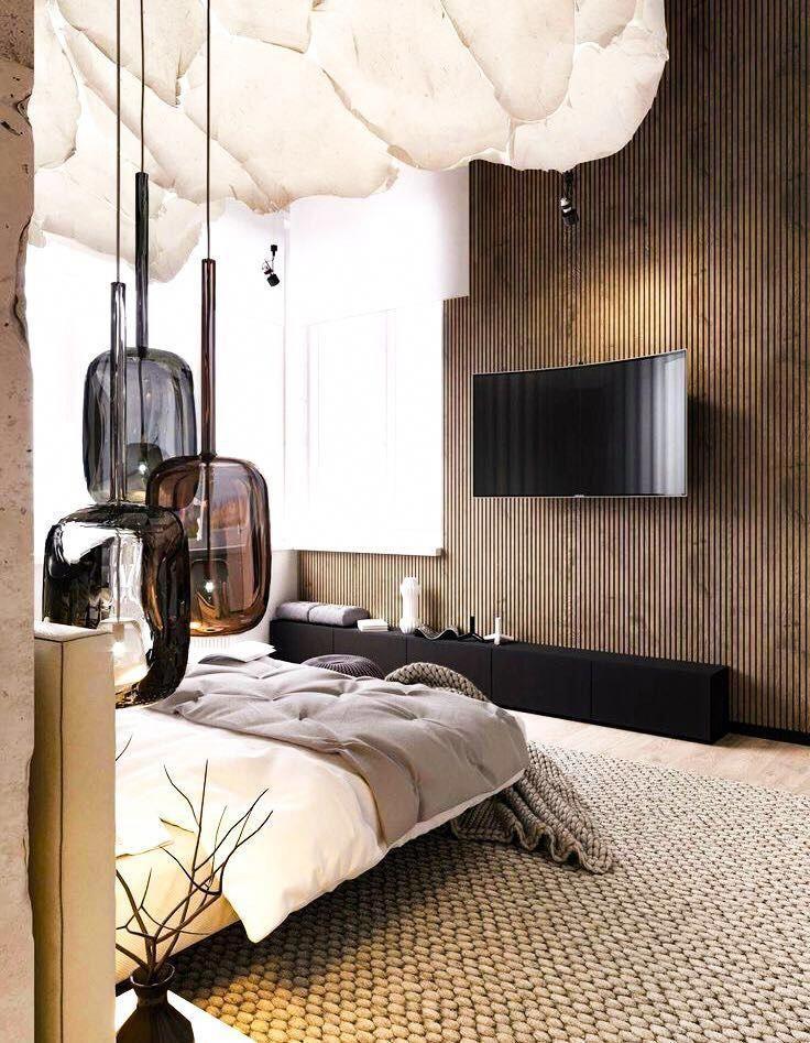 LuxusSchlafzimmer und Kunst ein Einbruch in der