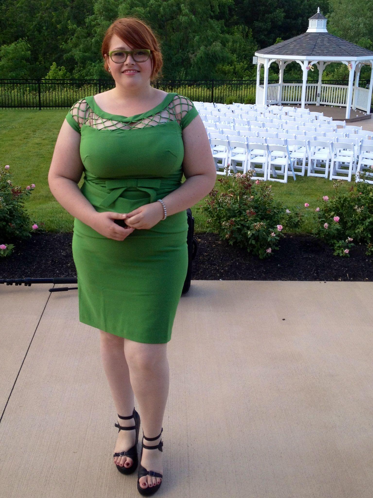 Betty Paige Tatyana Alika Green Pencil Dress Ze Zaftig