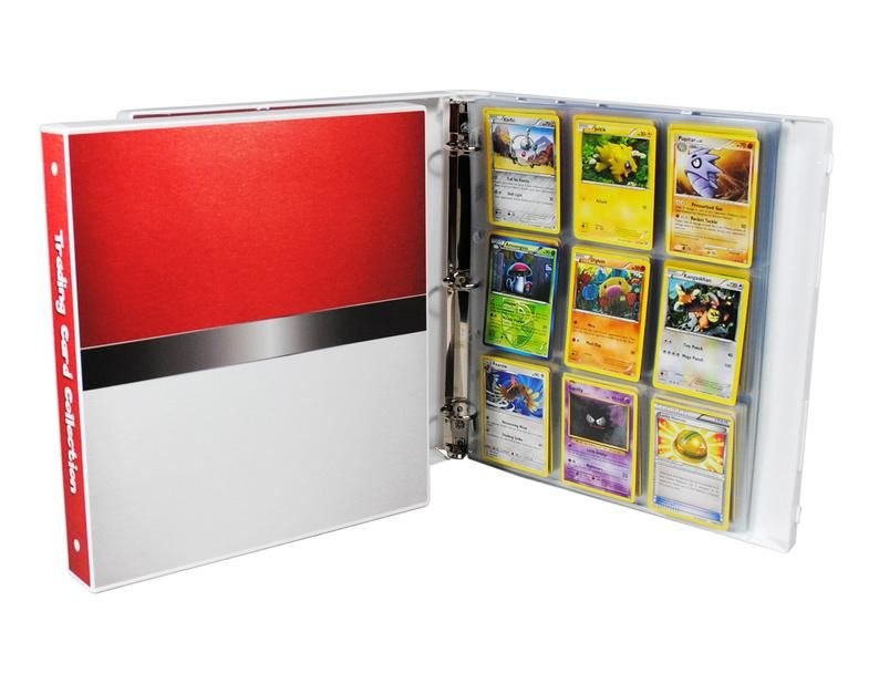 w// 25 Pages Holds 225 Cards Pokedex Themed Album for Pokemon Trading Cards