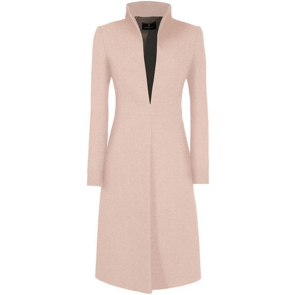 Buxton Coat ❤ liked on Polyvore featuring outerwear, coats, jackets, cappotti, pink coat and evening coat