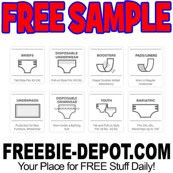 Free 2 Pack Incontinence Product Sample Free