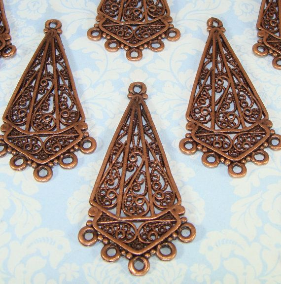 4 Earring Parts Chandelier Connector Components 2 by beadgiant