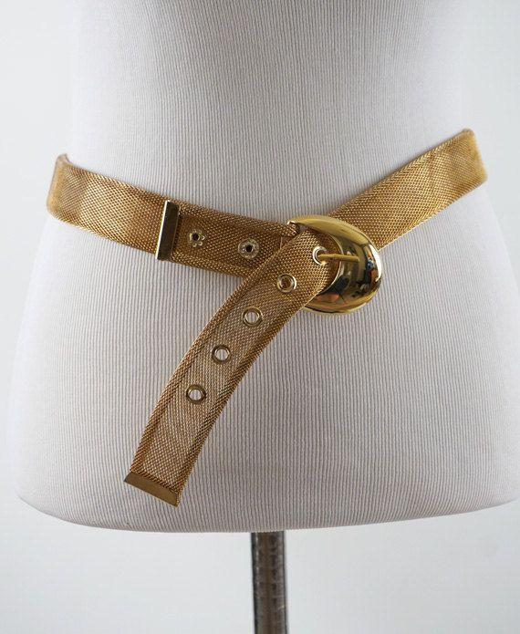 Vintage Goldtone Mesh Belt