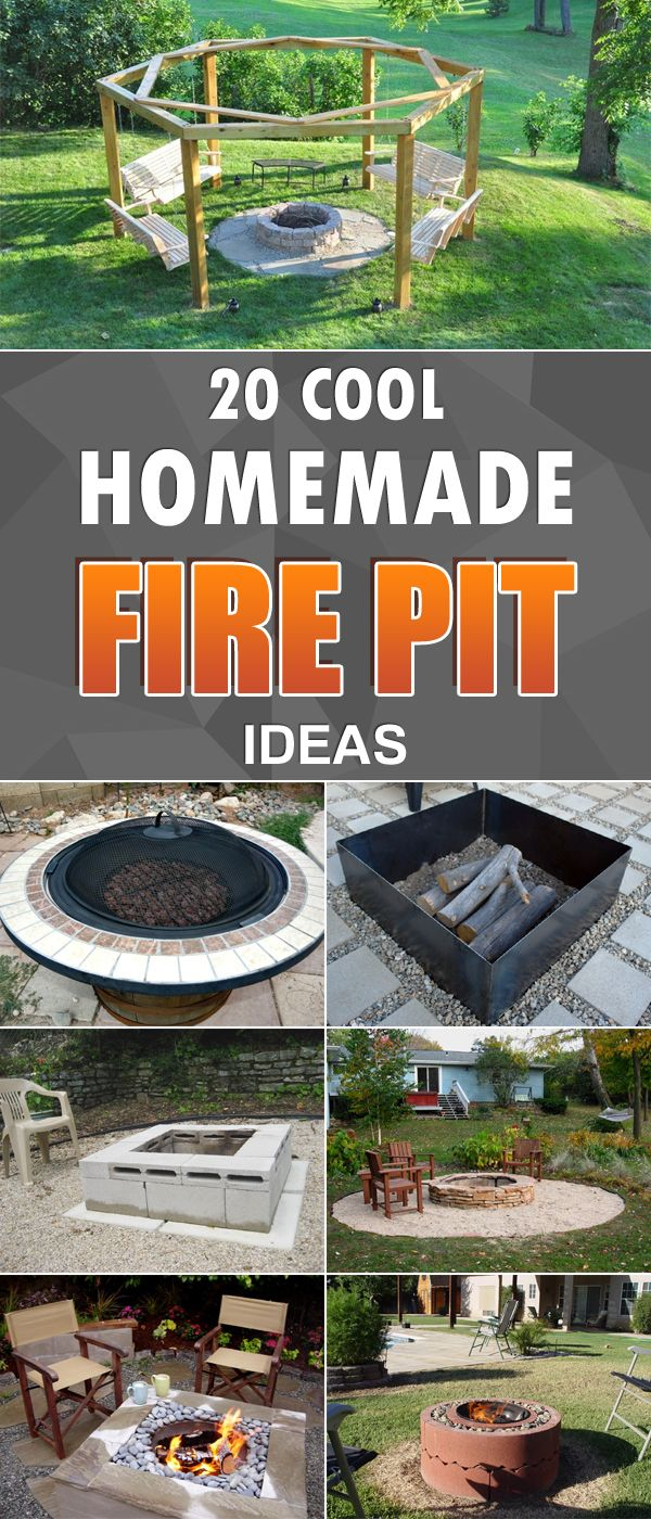 20 Cool Diy Homemade Fire Pit Ideas Homemade Fire Pit Backyard