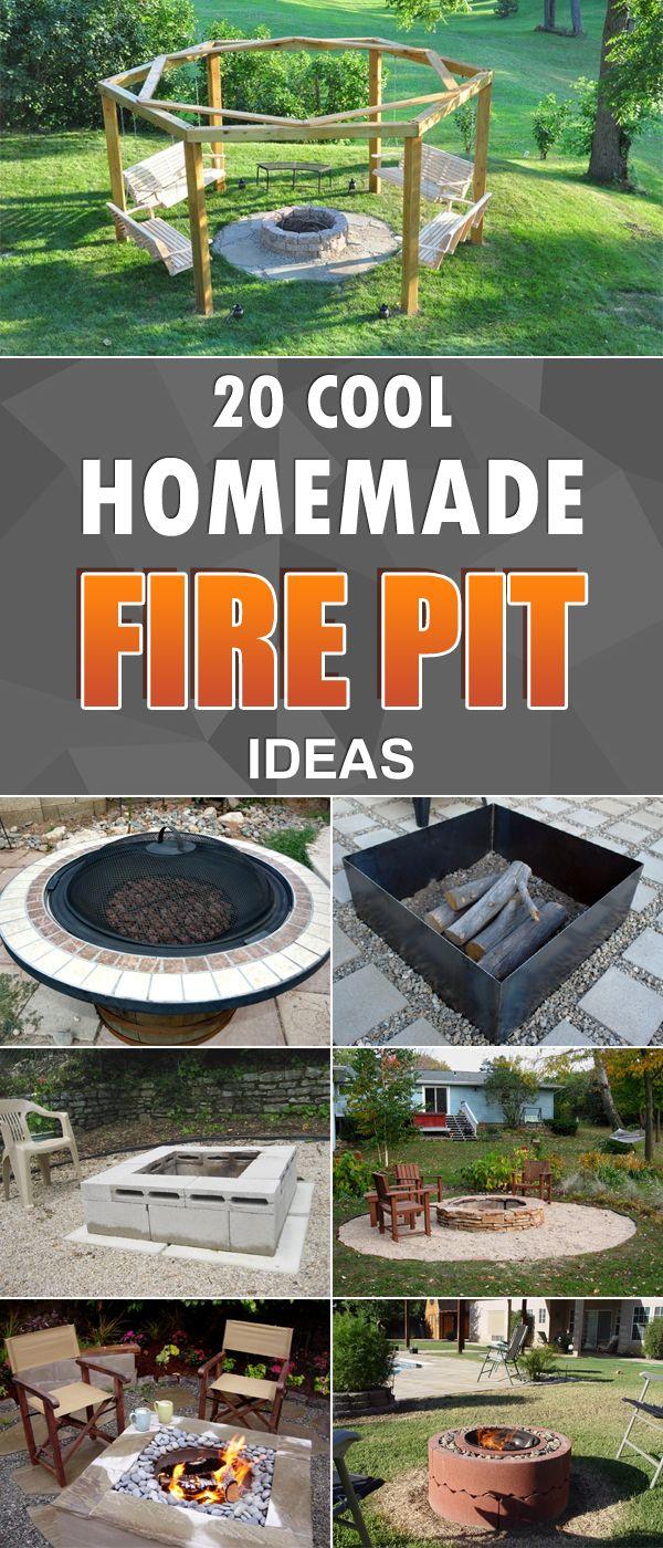 20 Cool Diy Homemade Fire Pit Ideas Backyard Bbq Pit Fire Pit