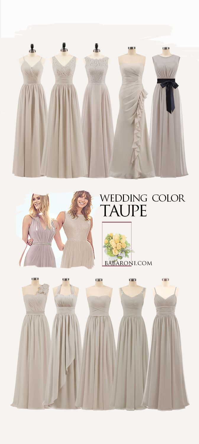 63fc15dd4b1 Taupe Bridesmaid Dresses Short