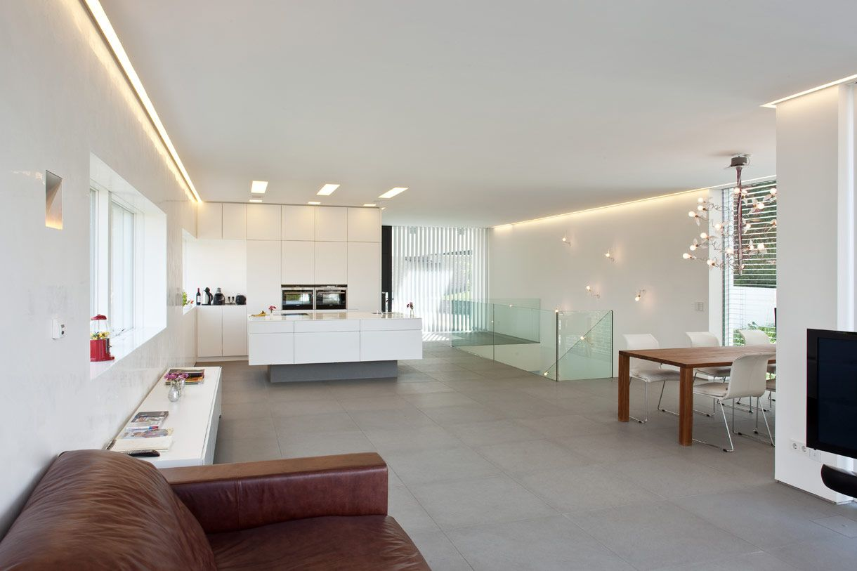 Floating island unit with concealed LED lights. Tall units from ...