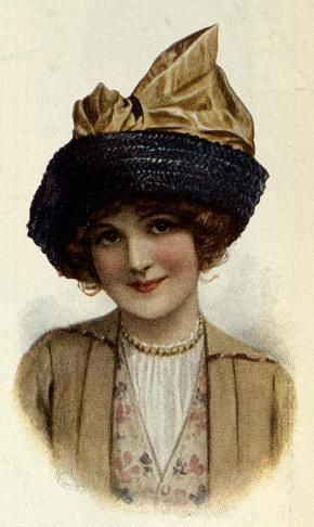Hundred-Year-Old Straw Hat with Bow (1913)