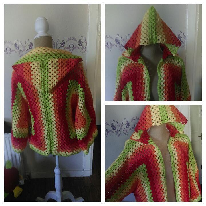 Hexagonal Hooded Cardigan By Celeste Wood - Free Crochet Pattern ...