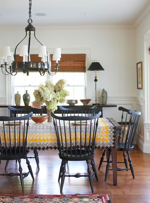 Brick Outdoor Kitchen Ideas, Windsor Chair A Timeless Beauty Town Country Living Traditional Dining Rooms Farmhouse Dining Farmhouse Dining Room