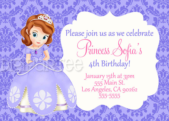 Free Printables Sofia The First Sofia The First Invitation By
