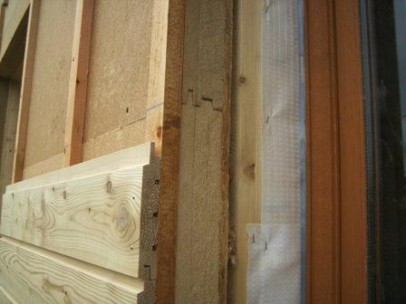 Fixations apparentes de bardage par clouage sur isolation - Isolation exterieure ossature bois ...