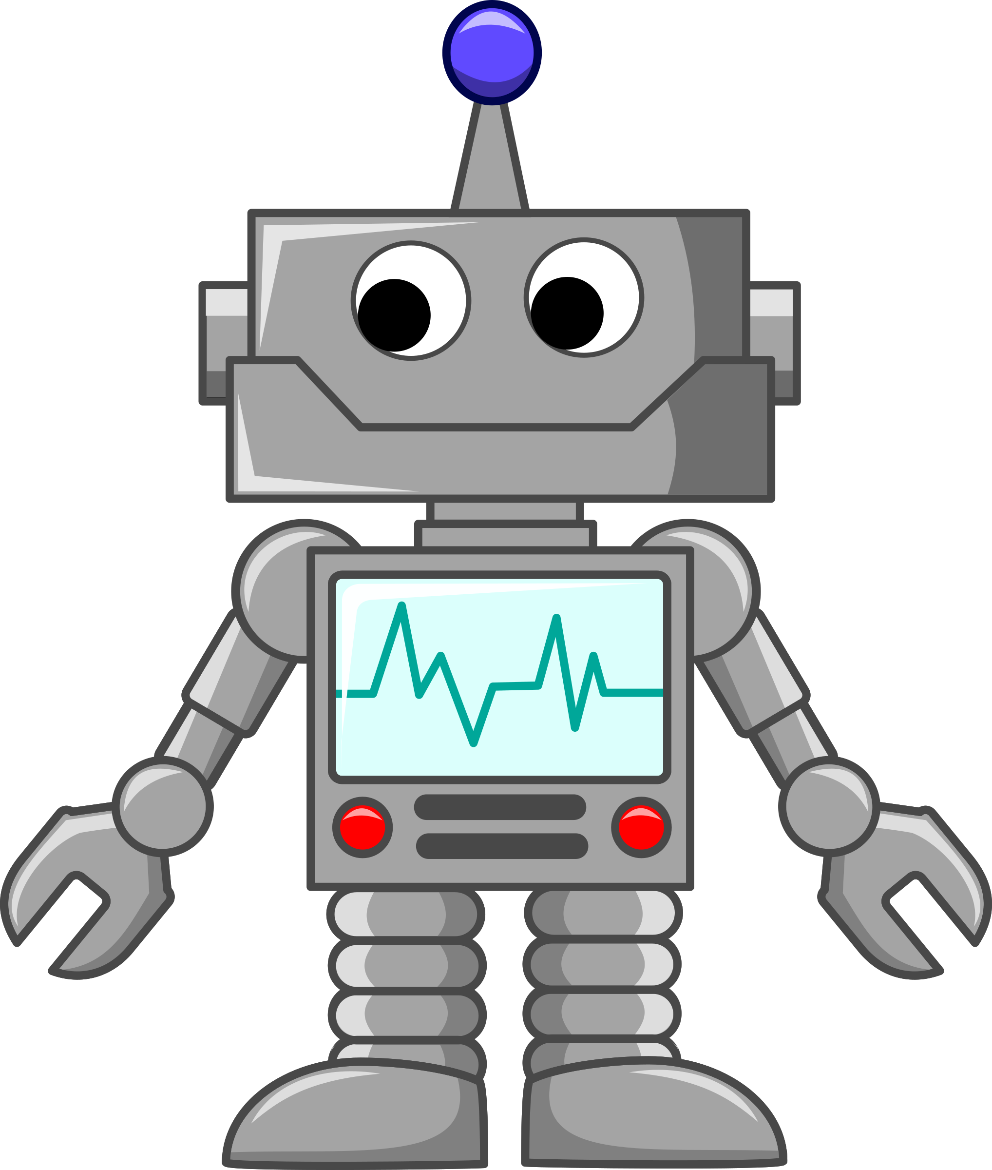 cartoon robot (With images) | Robot cartoon, Robot clipart, Robot ...