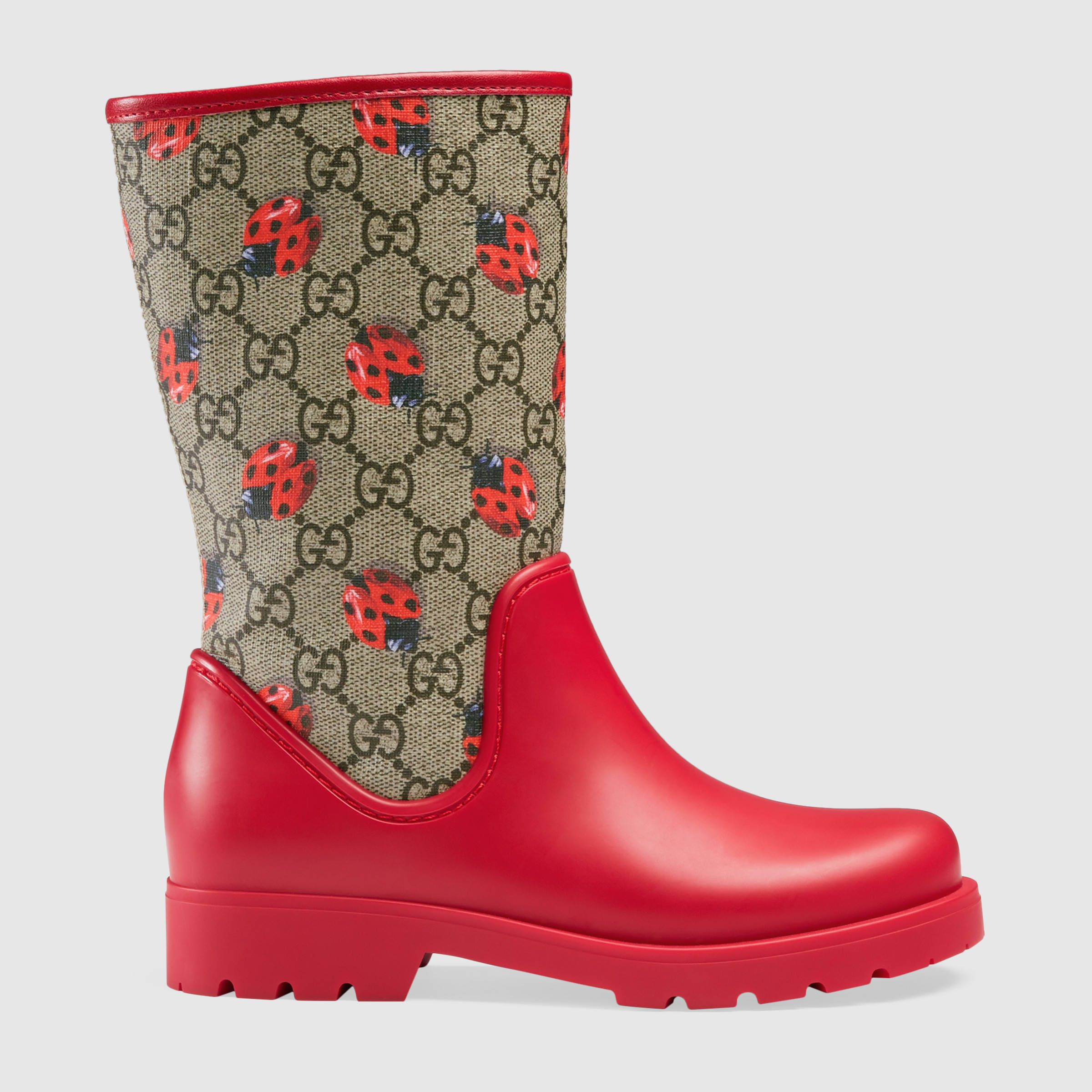 bd086b366 Gucci Children - Children's GG ladybugs rain boot | Girls Shoes ...
