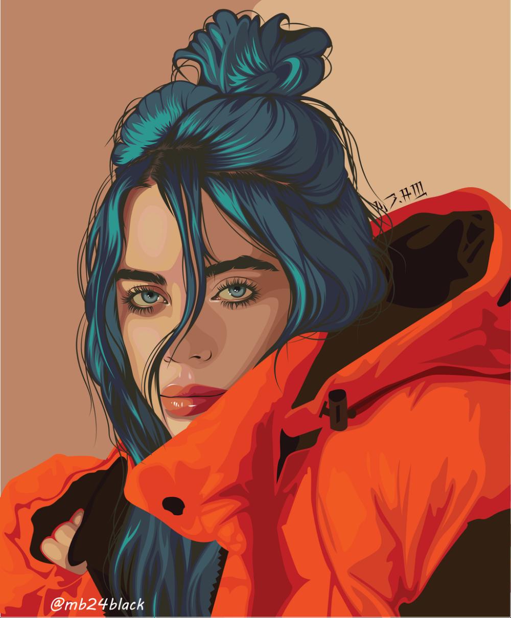 Billish By Mb24black On Deviantart Billie Eilish Celebrity Drawings Digital Art Girl