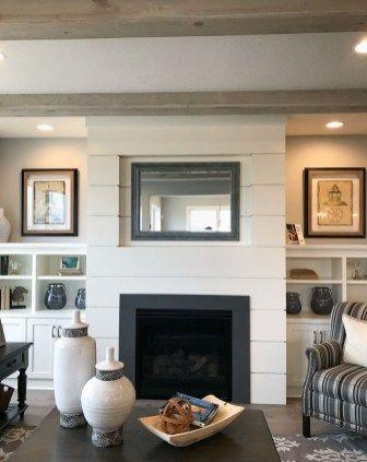 65 Outstanding Shiplap Fireplace Wall Decor Ideas | Shiplap ...